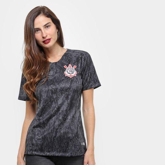 e3c0d0a511 Camisa Corinthians II 18 19 s n° Torcedor Nike Feminina - Preto ...