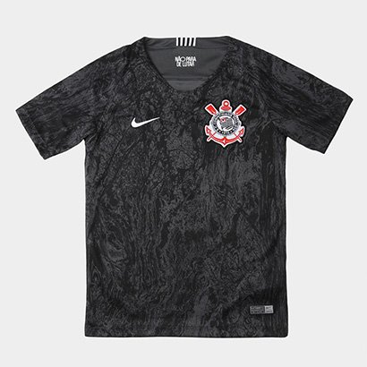 Camisa Corinthians II Juvenil 18/19 s/n° Torcedor Nike
