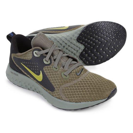 Tênis Nike Legend React Masculino - Cinza e Verde - Compre Agora ... 116e059a961f3