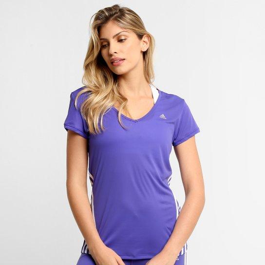 Camiseta Adidas ESS Clima 3S LW Feminina - Lilás - Compre Agora ... 94d2dfa3b5f67