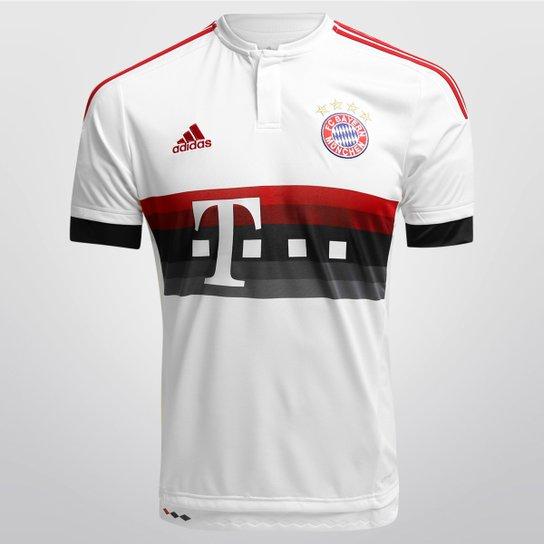 5a0c9412b6 Camisa Bayern de Munique Away 15/16 s/nº Torcedor Adidas Masculina - Branco