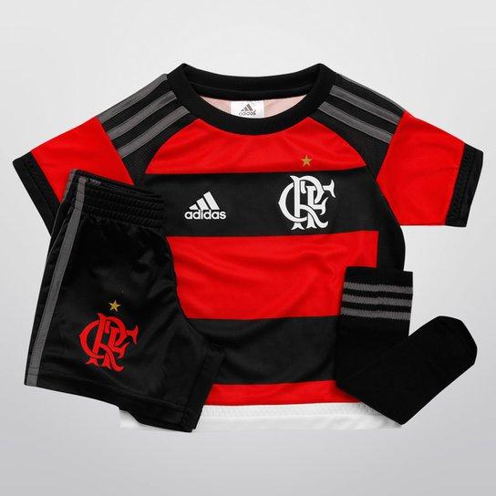 Kit Adidas Flamengo I 15 16 s nº Infantil - Vermelho+Preto 51f57975de861