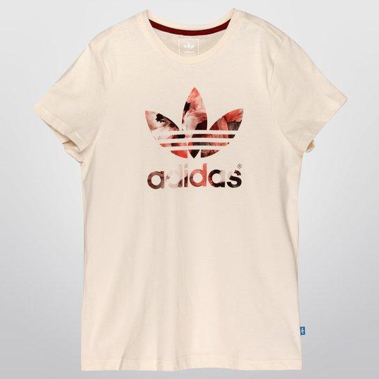 a254b611cd Camiseta Adidas J P Trefoil Tee G Infantil - Bege