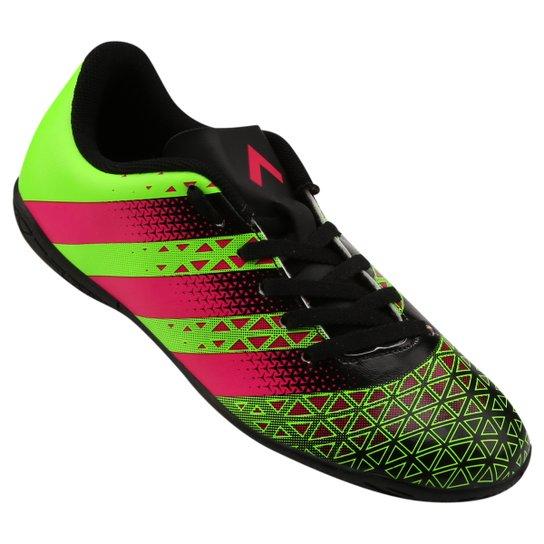 2a5398b5b9083 Chuteira Futsal Infantil Adidas Artilheira IN - Verde e Vermelho ...