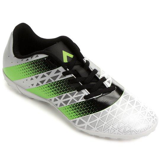 Chuteira Society Adidas Artilheira TF Masculina - Branco+Verde Limão 427b2d0ba5928