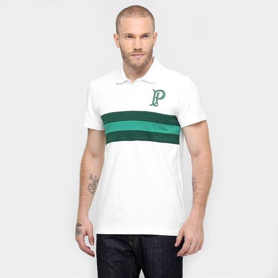 Camisa Polo Palmeiras Adidas Premium Masculina - Branco e Verde ... e1935e8633654