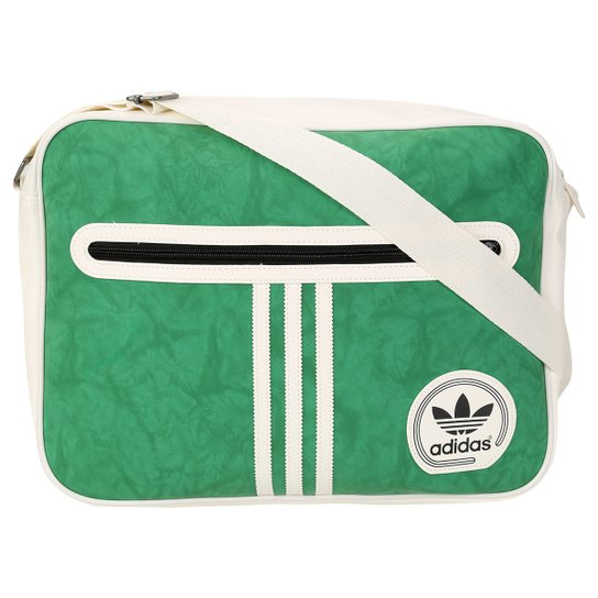 06cd3672c Bolsa Adidas Originals Airliner Suede Adicolor - Branco+Verde
