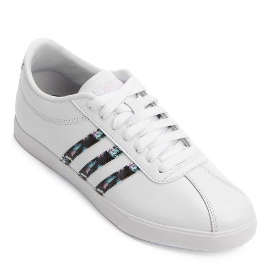 e409ae00a6 Tênis Adidas Courtset Feminino - Branco