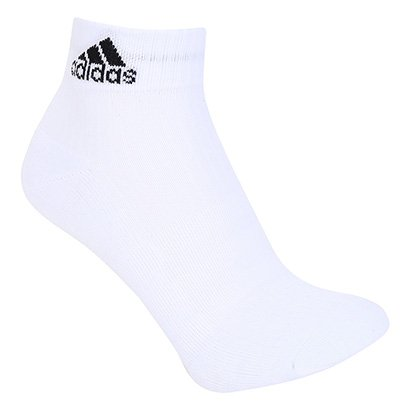 Meia Adidas Cano Médio Cushion 3S Pacote c/ 3 Pares