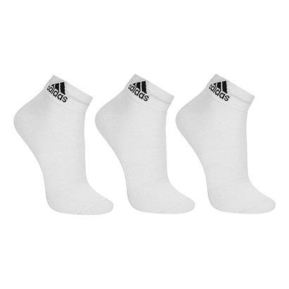 Meia Adidas Cano Médio Thin Pacote c/ 3 pares