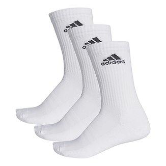 Pacote Meia Adidas Cushion 3S Cano Alto com 3 Pares 0ca2d673fdb97