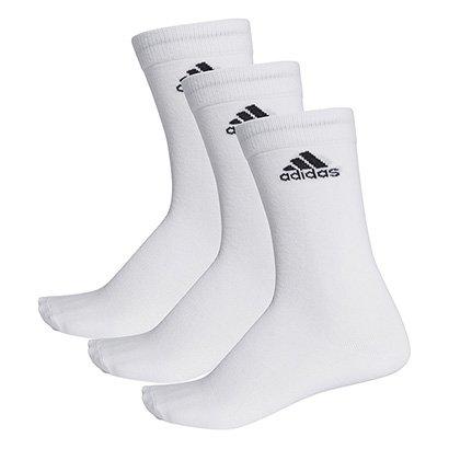 Meia Adidas Cano Alto Thin Pacote c/ 3 Pares