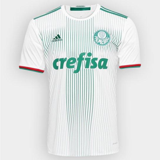 6fd21ae63eb9e Camisa Palmeiras II 2016 s nº Adidas Torcedor Masculina - Branco+Verde