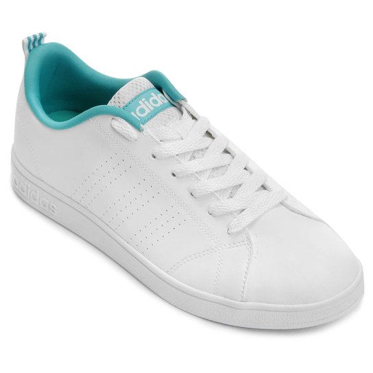d9e77ad1b71 Tênis Adidas Advantage Clean Vs - Branco+Verde Água