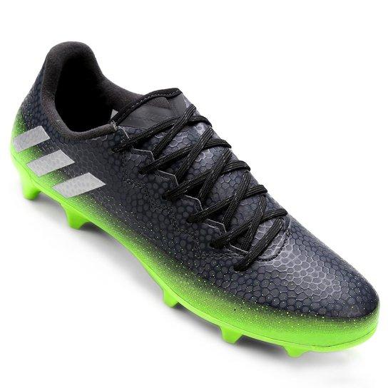 Chuteira Campo Adidas Messi 16.3 FG Masculina - Chumbo e Verde Limão ... b294257cc9e5f