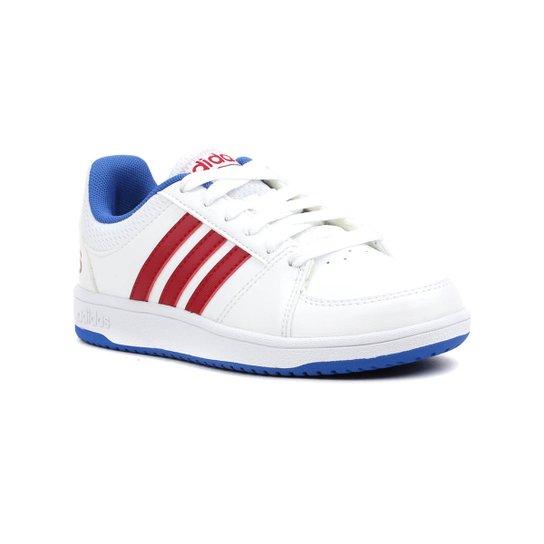 6a00d12c5 Tênis Infantil Para Menino Adidas Hoops Vs Branco azul - Compre ...