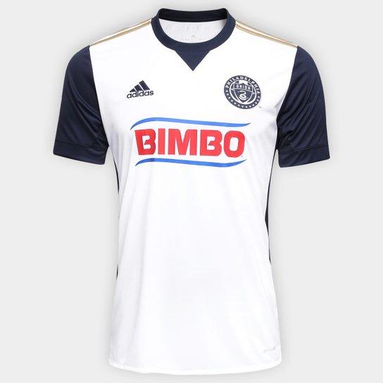 4c54eb9bb0 Camisa Philadelphia Union MLS Away 17 18 s nº Torcedor Adidas Masculina -  Branco