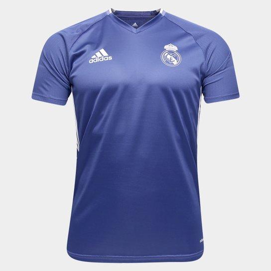 0c8e408155f5f Camisa de Treino Real Madrid 17 18 Adidas Masculina - Azul. Regras da  promoção