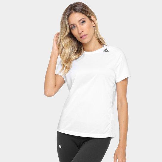 4c5f764448d Camiseta Adidas D2M Lose Feminina - Branco - Compre Agora