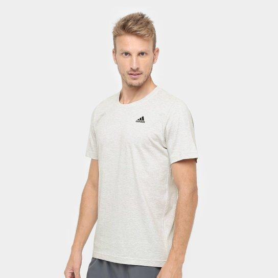 6708e1c84 Camiseta Adidas Essential Base Masculina - Off White - Compre Agora ...