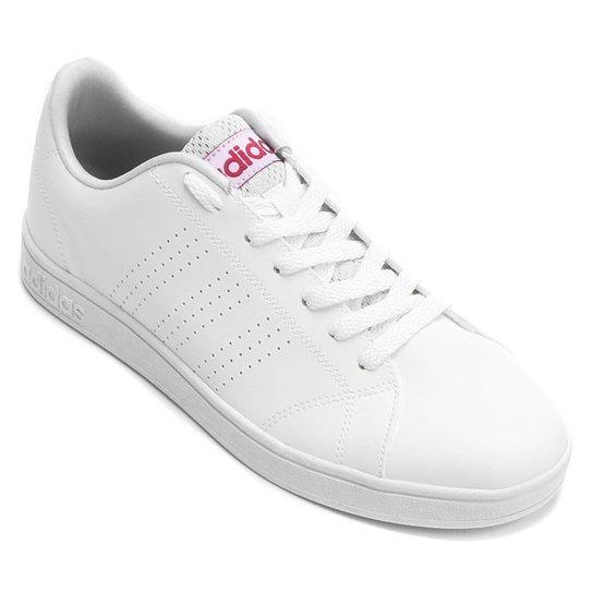 ... Tênis Adidas Vs Advantage Clean Feminino - Branco - Compre Agora . 82d5fcf0cfc81
