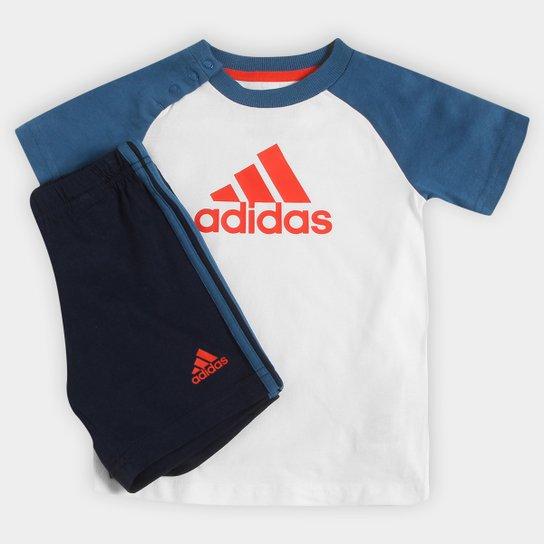 553f40d7cd8 Conjunto Adidas I Sum Set Boys Infantil - Compre Agora