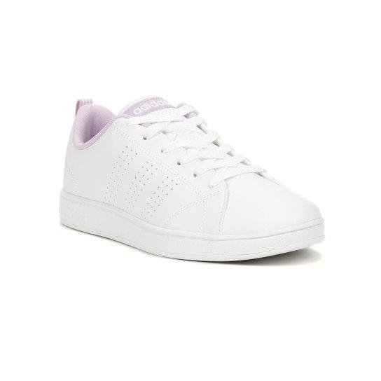89aa4bc8226 Tênis Infantil Adidas Advantage Clean Para Menina - Branco - Compre ...
