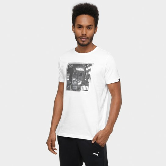4c18b45dbd5bb Camiseta Puma Street Skater Polaroid Masculina - Branco - Compre ...