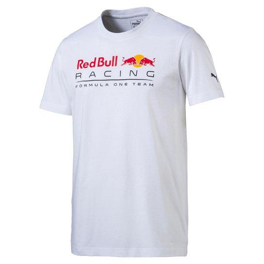 0170986fe4e6f Camiseta Puma Logo Red Bull Racing Masculina - Branco - Compre Agora ...