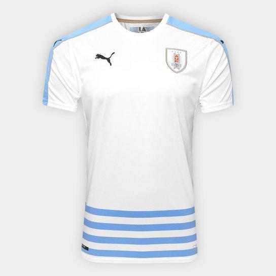 Camisa Seleção Uruguai Away 17 18 s nº Torcedor Puma Masculina - Branco 3050baf9efa34