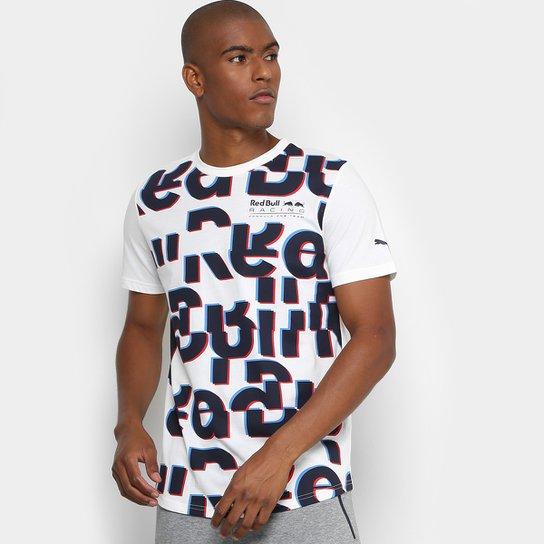 Camiseta Puma Red Bull Racing Race Masculina - Branco - Compre Agora ... dcafc592486