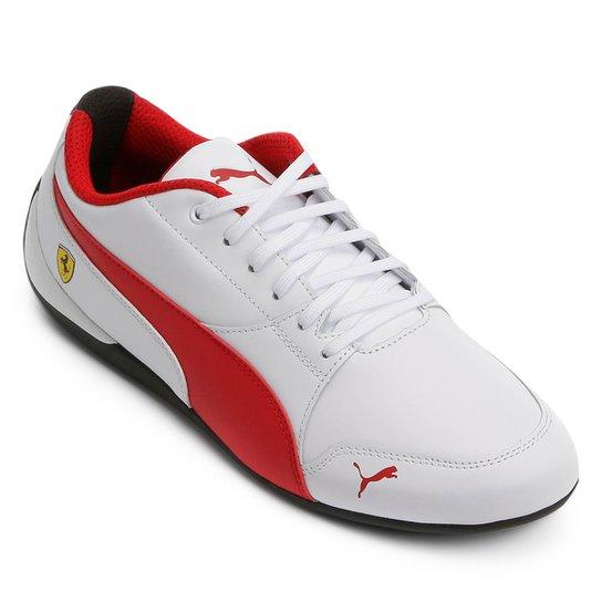68bba1383 Tênis Puma Scuderia Ferrari Drift Cat 7 Masculino - Branco+Vermelho