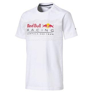 Camiseta Puma Red Bull Racing Logo Tee Masculina 8dd841b9a067b