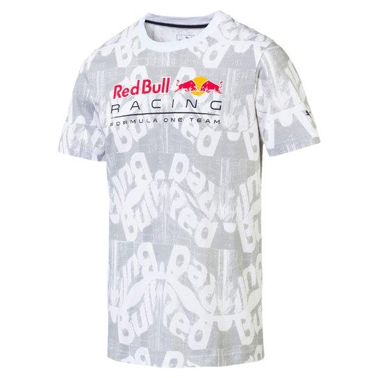 2e8dbdac64b8b Camiseta Puma Red Bull Racing AOP Tee Masculina - Branco - Compre ...