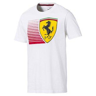 Camiseta Puma Scuderia Ferrari Big Shield Tee Masculina 434e18a0e94f2