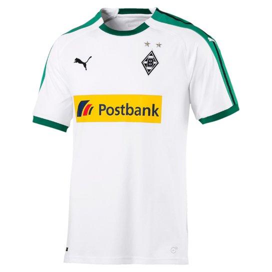 Camisa Borussia Mönchengladbach Réplica Sponsor Puma Masculina - Branco c45033326e829