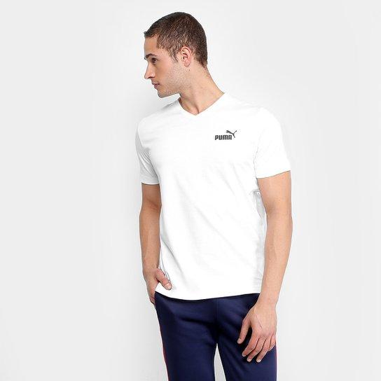fb906bd502577 Camiseta Puma ESS+ V Neck Masculina - Branco - Compre Agora
