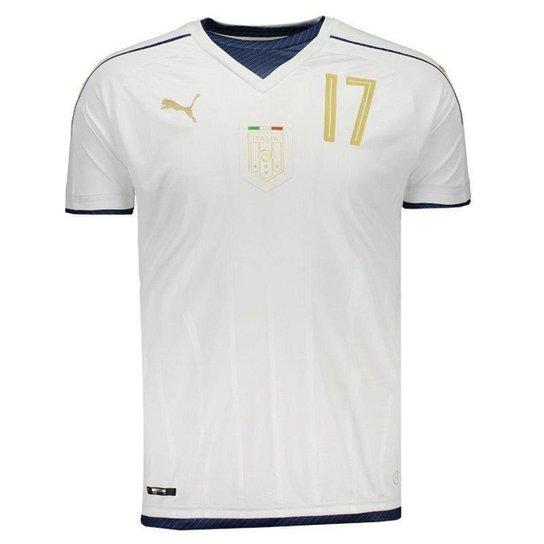 Camisa Puma Itália Away 2017 Tributo N°17 Eder Masculina - Branco ... 550d135fe6ec7