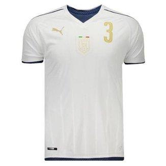 5e771e4992 Camisa Puma Itália Away 2017 Tributo N°3 Chiellini Masculina