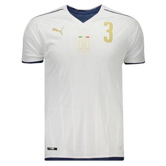 Camisa Puma Itália Away 2017 Tributo N°3 Chiellini Masculina - Branco 3bbe13cf1dc0c