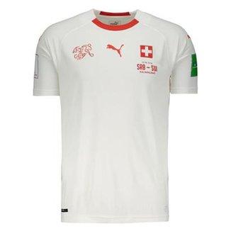 Camisa Puma Suíça Away 2018 Masculina d39c0eeb28db7