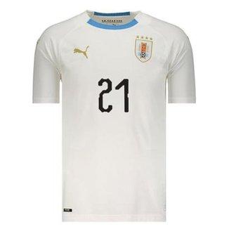 adf306006d2a2 Camisa Puma Uruguai Away 2018 N°21 E. Cavani Masculina