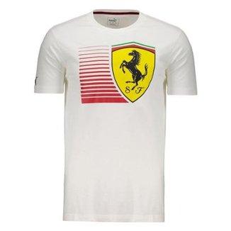 Camiseta Puma Scuderia Ferrari Big Shield Masculina 45a1ecaf3f9