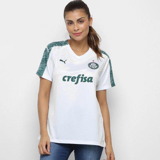 Camisa Palmeiras II 19 20 s n° - Torcedor Puma Feminina - Branco ... 4e5be90d3d364