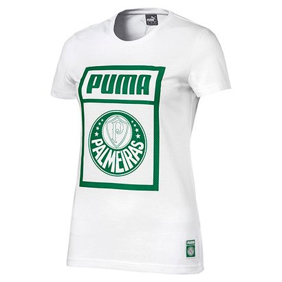 Camiseta Palmeiras Puma Graphic Feminina