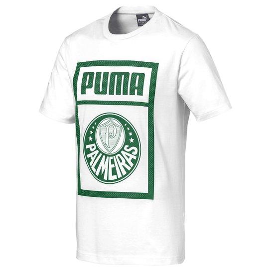 Camiseta Palmeiras Puma Graphic Masculina - Branco e Verde - Compre ... 9b2ef433ea8ba