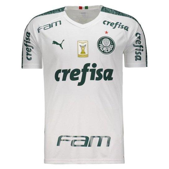 0dd6ae5618f Camisa Puma Palmeiras II 2019 Com Patch Masculina - Branco