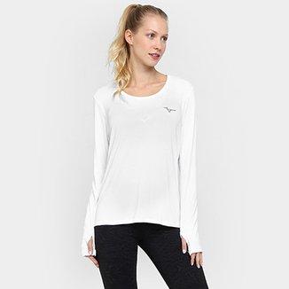 ec60d2b4503b7 Camiseta Mizuno Manga Longa Com Proteção UV Feminina