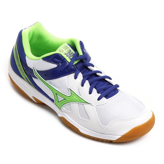 Tênis Mizuno Cyclone Speed Masculino - Branco e Verde Claro - Compre ... 557daa582e879