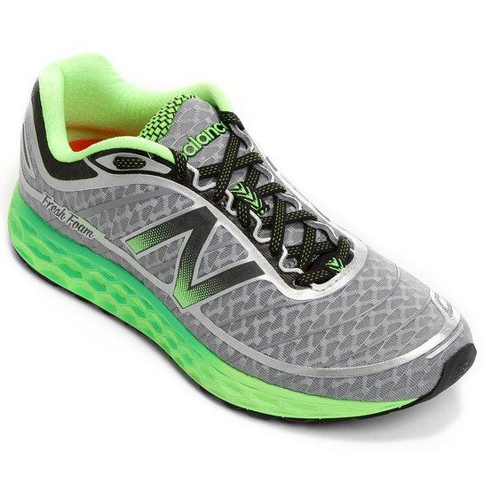 53655861029 Tênis New Balance 980 V2 Masculino - Verde Limão+Cinza